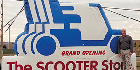 The Scooter Store Inflatable Grand Opening Billboard
