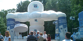 Nivea Inflatable Kiosk at Marketing Event