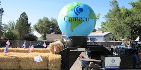 Cameco Inflatable Displayed on Parade Float