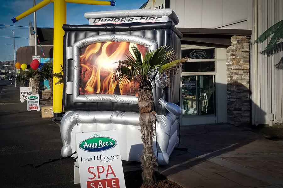 L5350 Inflatable Fireplace